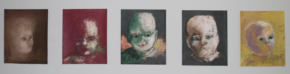 Heads (pastel on sandpaper)