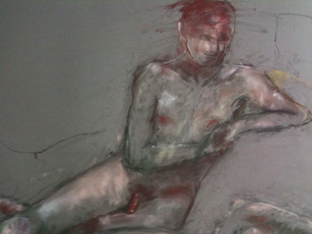Life drawing (pastel on paper)