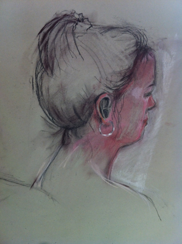 Head (pastel on paper)
