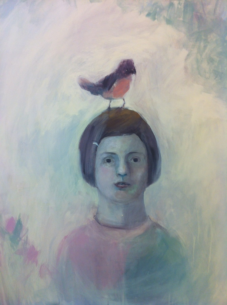 Little bird (emulsion paint on canvas)