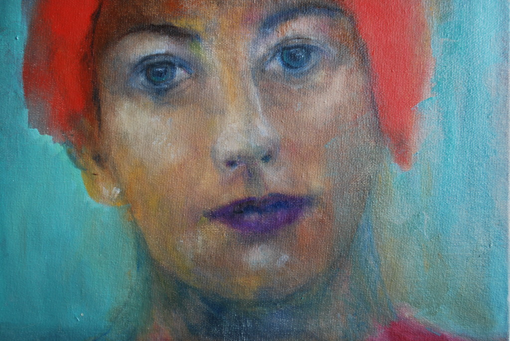 Red hair (oil on canvas board) (24.5 x 17cm)