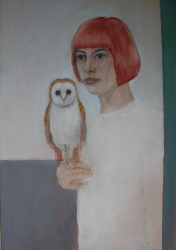 Barn owl (oil on canvas) (70 x 100cm)