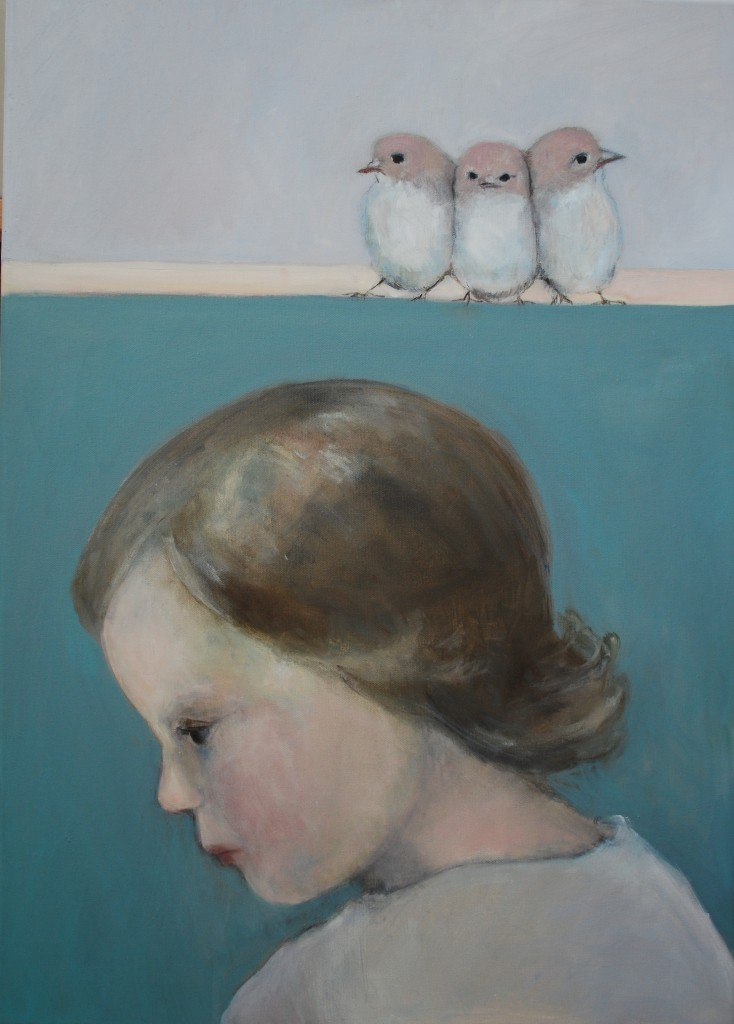 The little ones (oil on canvas) (50 x 70cm)