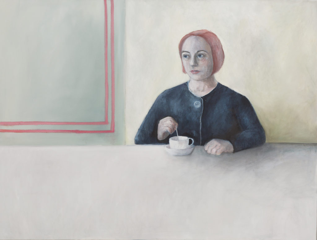 The cup of tea 120x92cm Oil on canvas